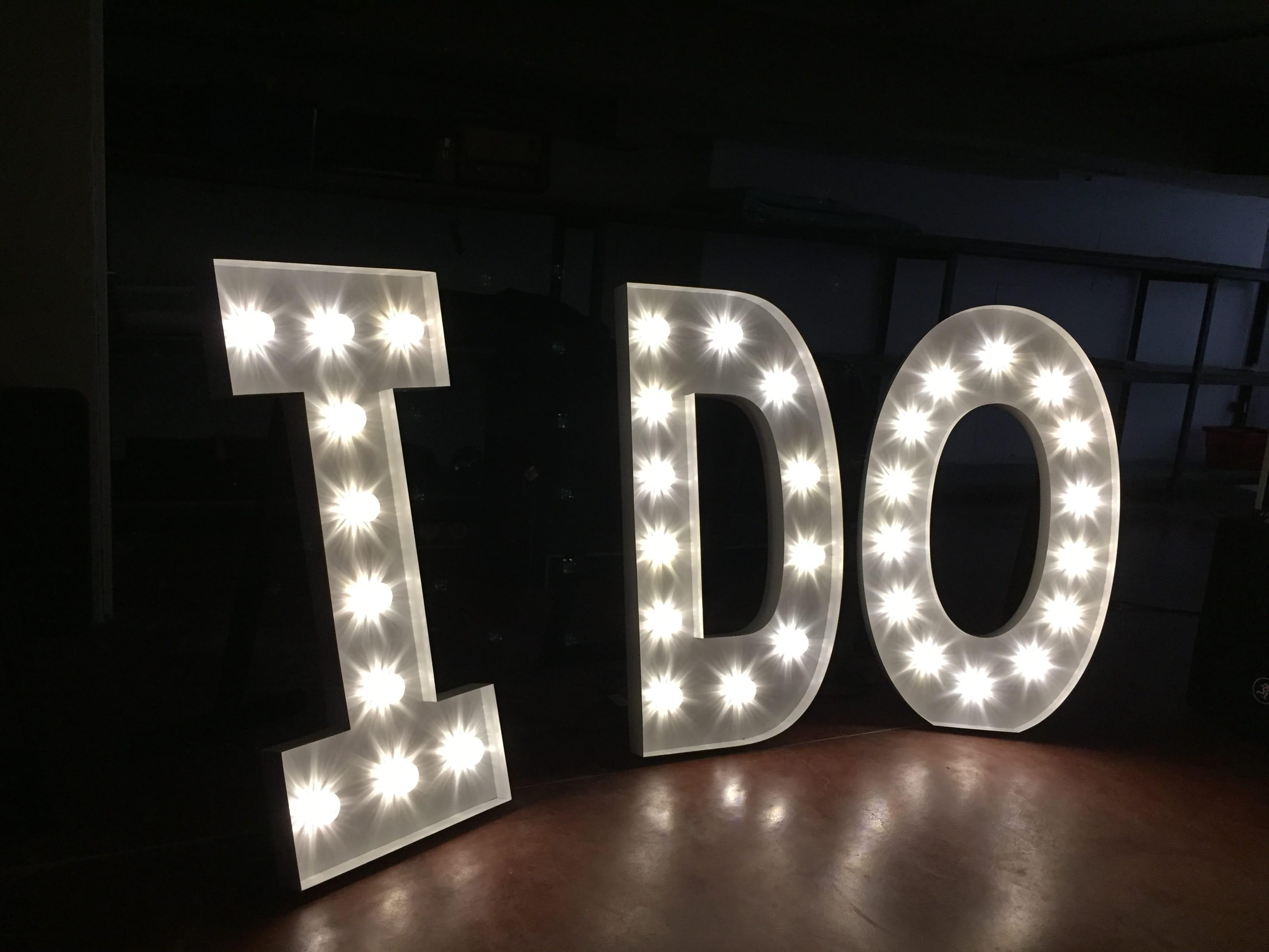 Lichtletters huren-trouwfeest-bruiloft-huwelijksfeest